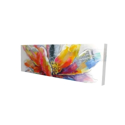 Canvas 16 x 48 - 3D - Abstract flower with texture