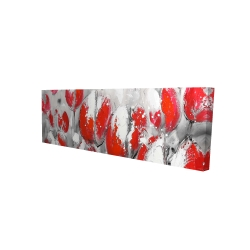 Canvas 16 x 48 - 3D - Abstract red tulips