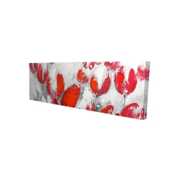 Canvas 16 x 48 - 3D - Red tulips