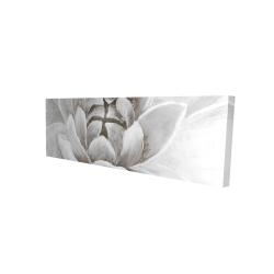 Canvas 16 x 48 - 3D - Delicate white chrysanthemum