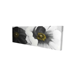 Canvas 16 x 48 - 3D - Assorted white flowers