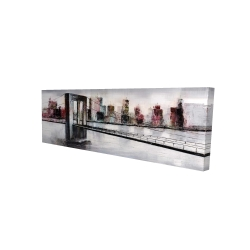 Canvas 16 x 48 - 3D - Abstract bridge cityscape