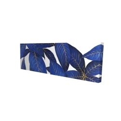 Canvas 16 x 48 - 3D - Abstract modern blue leaves