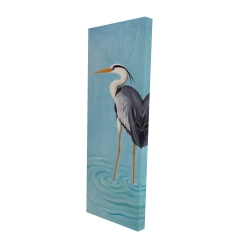 Canvas 16 x 48 - 3D - Grey heron