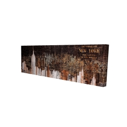 Canvas 16 x 48 - 3D - The empire city of newyork