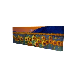 Canvas 16 x 48 - 3D - Field of sunflowers