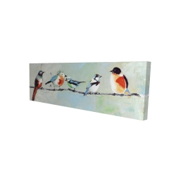 Canvas 16 x 48 - 3D - Small abstract colorful birds