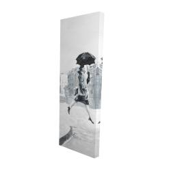 Canvas 16 x 48 - 3D - Woman in the rain