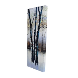 Canvas 16 x 48 - 3D - Frosted trees