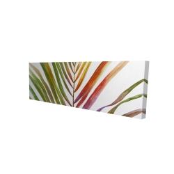 Toile 16 x 48 - 3D - Feuille de palmier tropical