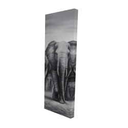 Canvas 16 x 48 - 3D - Herd of elephants