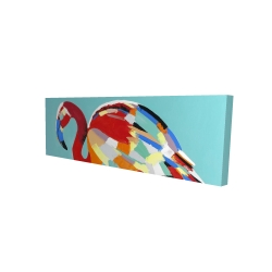 Canvas 16 x 48 - 3D - Abstract flamingo