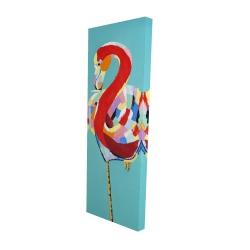 Canvas 16 x 48 - 3D - Colorful flamingo