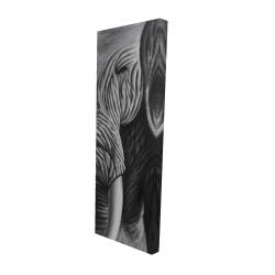Toile 16 x 48 - 3D - éléphant