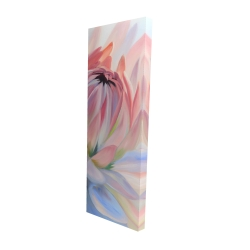Canvas 16 x 48 - 3D - Lotus pastel flower