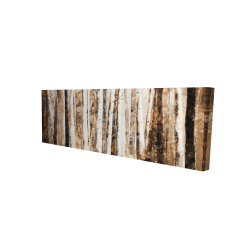 Canvas 16 x 48 - 3D - Trees of an asbtract forest