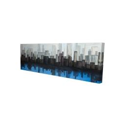 Canvas 16 x 48 - 3D - View of a blue city