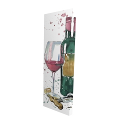 Canvas 16 x 48 - 3D - Bottle of red wine