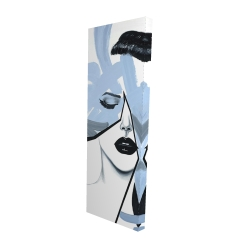 Canvas 16 x 48 - 3D - Abstract blue woman portrait