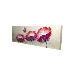 Canvas 16 x 48 - 3D - Three wild flowers
