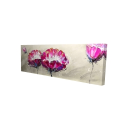 Canvas 16 x 48 - 3D - Two wild flowers