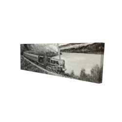 Canvas 16 x 48 - 3D - Vintage passenger locomotive