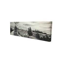 Canvas 20 x 60 - 3D - Steam engine train