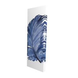 Canvas 16 x 48 - 3D - Watercolor blue feather