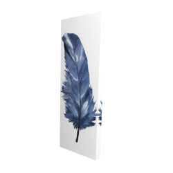 Canvas 16 x 48 - 3D - Blue feather