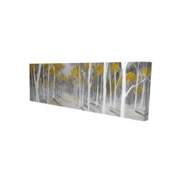 Canvas 16 x 48 - 3D - Yellow birch forest