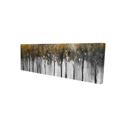 Canvas 16 x 48 - 3D - Abstract yellow forest