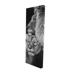 Canvas 16 x 48 - 3D - Lion and lioness