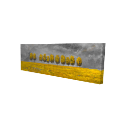Canvas 16 x 48 - 3D - Trees in a field