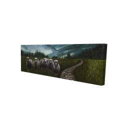 Canvas 16 x 48 - 3D - Sheep in the countryside