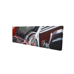 Canvas 16 x 48 - 3D - Vintage red car dashboard