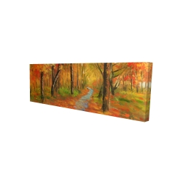 Canvas 16 x 48 - 3D - Autumn trail in the forest