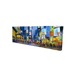 Canvas 16 x 48 - 3D - Cityscape in times square