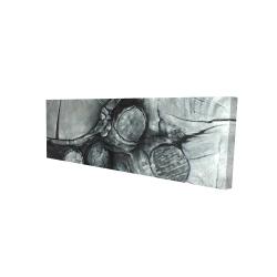Canvas 16 x 48 - 3D - Textured wooden logs