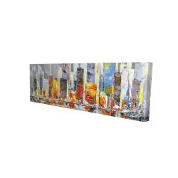 Canvas 16 x 48 - 3D - Color splash cityscape