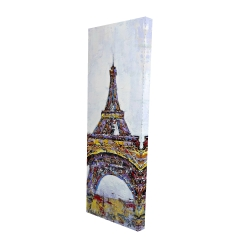 Canvas 16 x 48 - 3D - Abstract paint splash eiffel tower