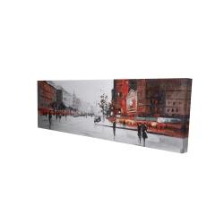 Canvas 16 x 48 - 3D - Classic street scene