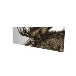 Canvas 16 x 48 - 3D - Moose plume sepia