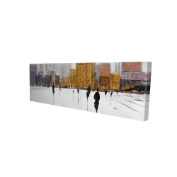 Canvas 16 x 48 - 3D - City on the horizon