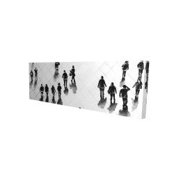 Canvas 16 x 48 - 3D - Overhead view of people on the street