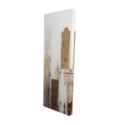 Canvas 16 x 48 - 3D - Abstract earthy tones city