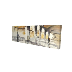 Canvas 16 x 48 - 3D - People in a spacious hall