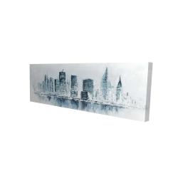 Canvas 16 x 48 - 3D - City in blue colors