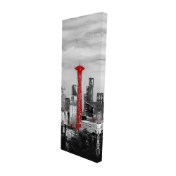 Canvas 16 x 48 - 3D - Space needle in red