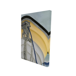 Canvas 24 x 36 - 3D - The yellow boat