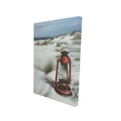 Canvas 24 x 36 - 3D - Lantern on the beach